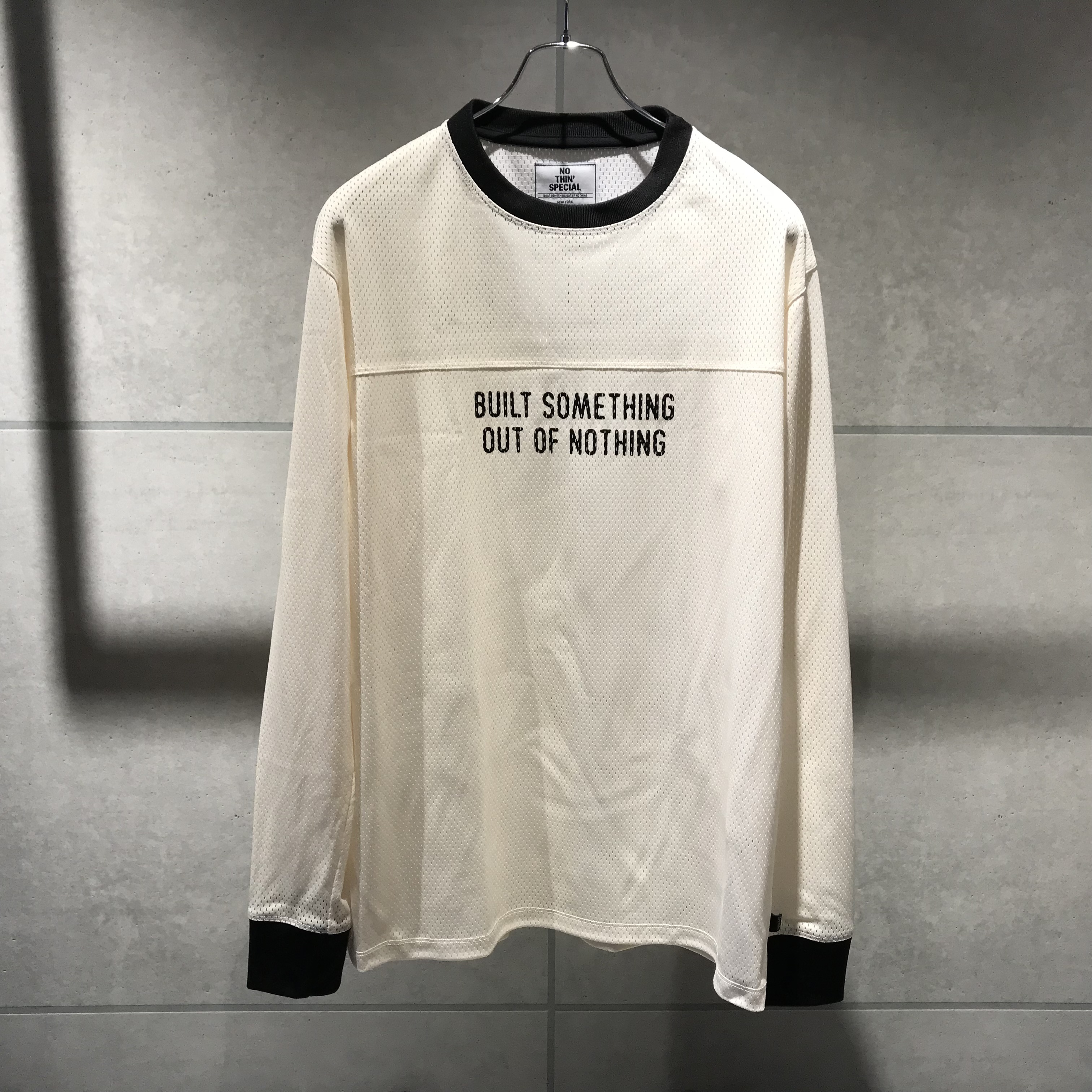 NOTHIN'SPECIAL OUT OF NOTHING MOTO JERSEY / WHITE x BLACK