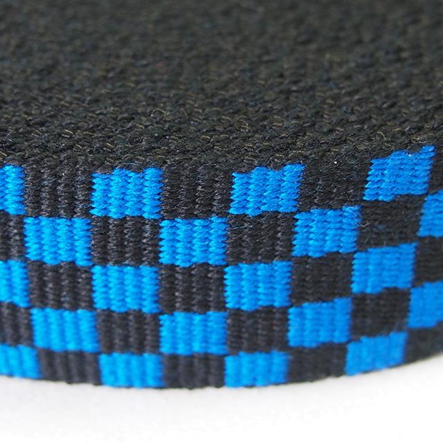 アクリル フラッグチェックテープ 32mm ブルー×ブラック 1m