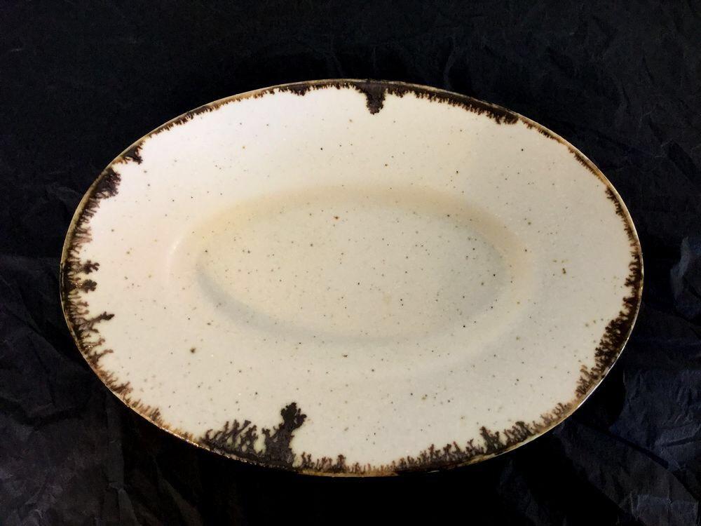 KODAMA TOKI  Oval Plate Brown 28cm