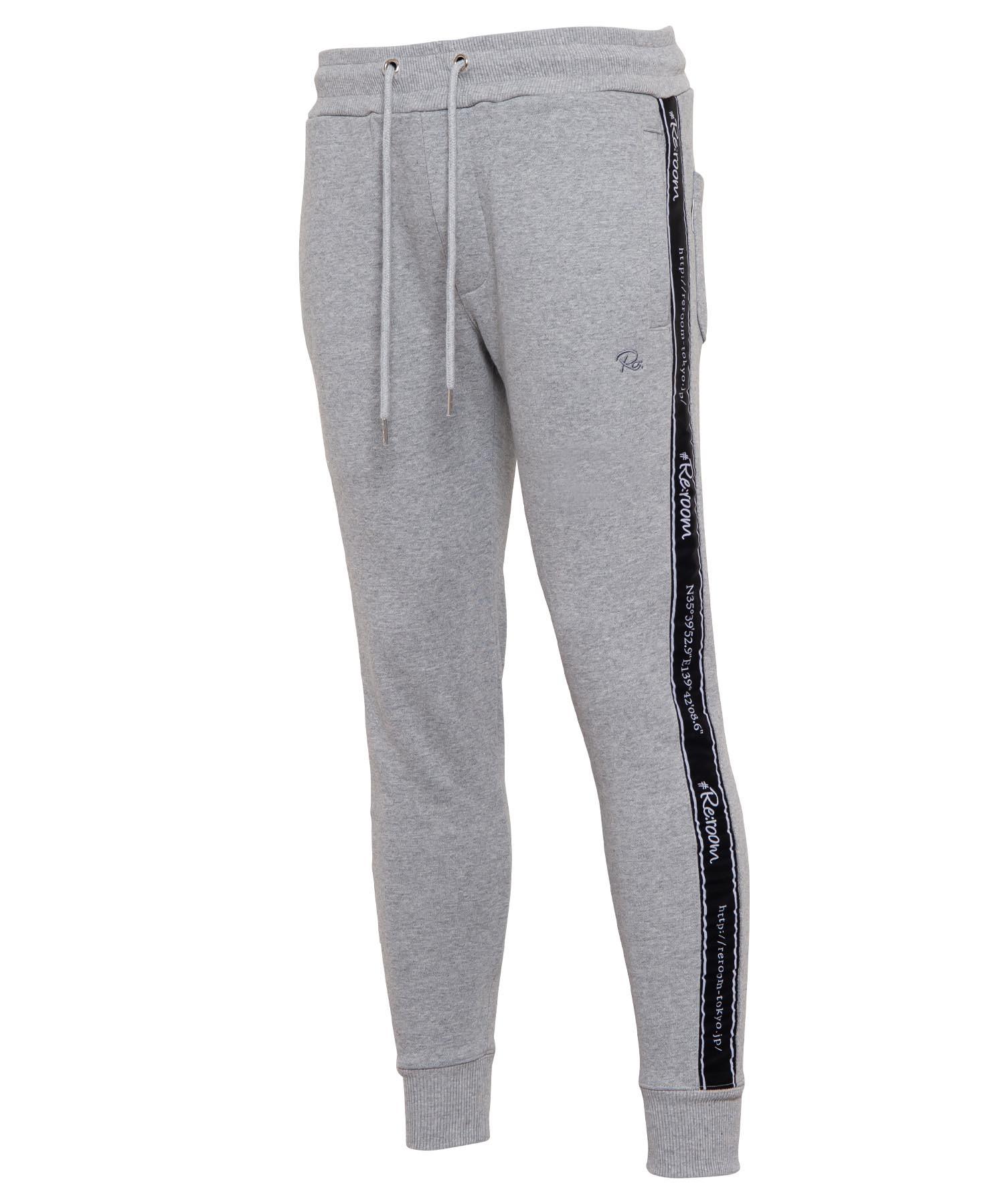 LINE TAPE LOGO SLIM SWEAT PANTS[REP090]