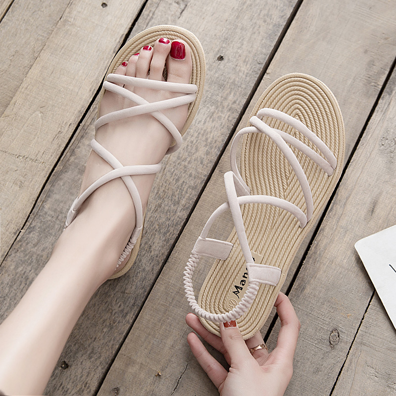 【shoes】清新無地合わせやすいカジュアルサンダル21294829
