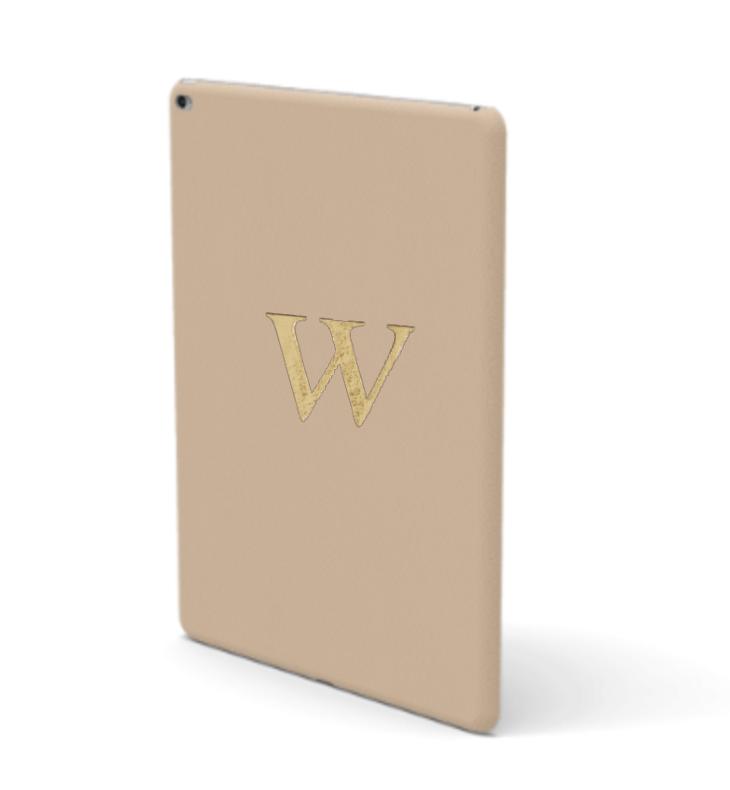 iPad Premium Smooth Leather Case (Nude)