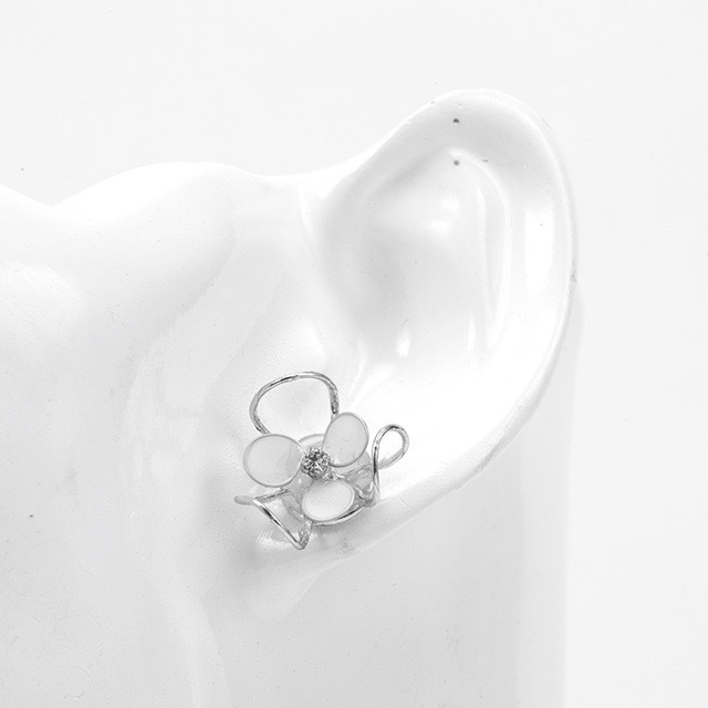 clear flower M/basic colorピアス・イヤリング