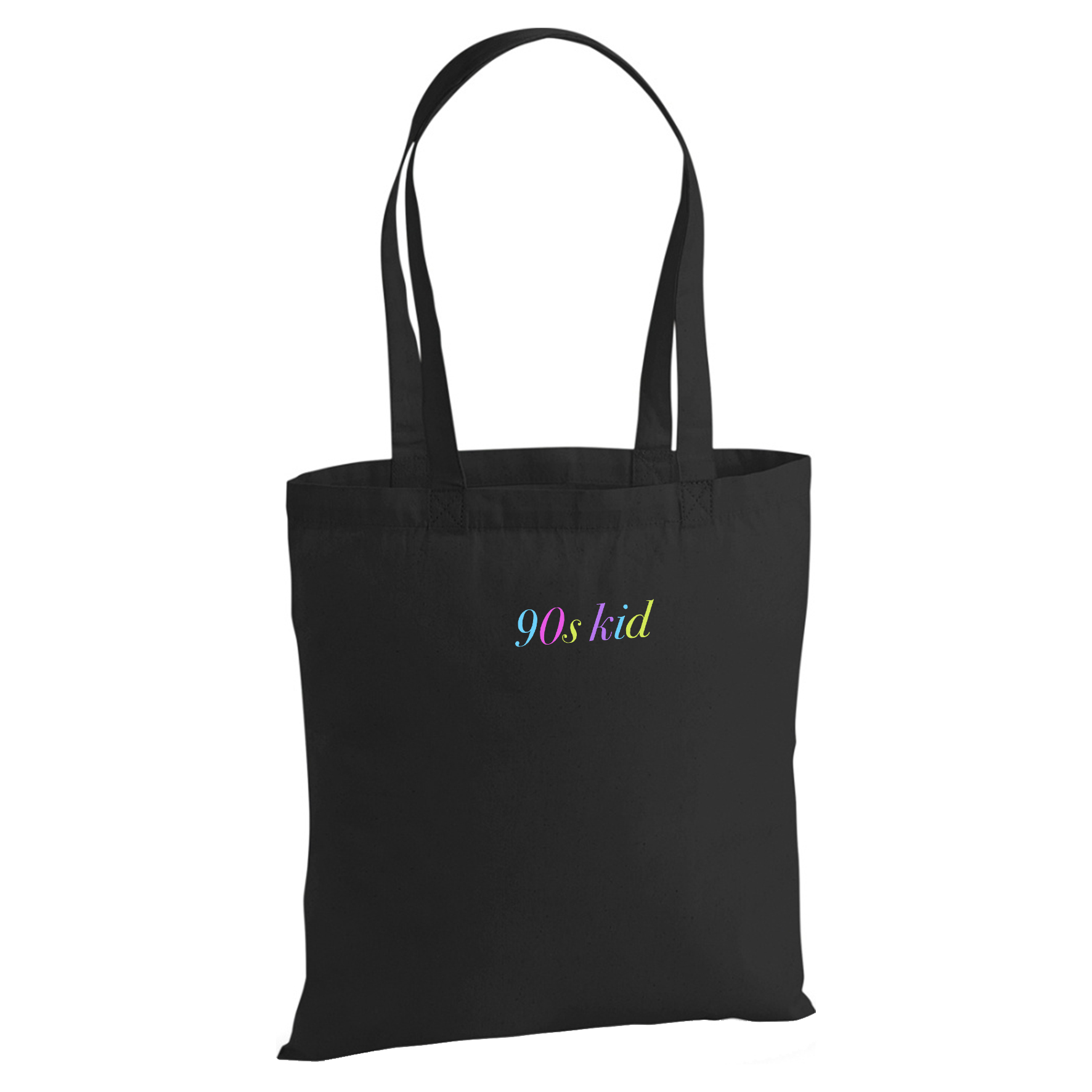 90s kid Embroidery Tote Bag