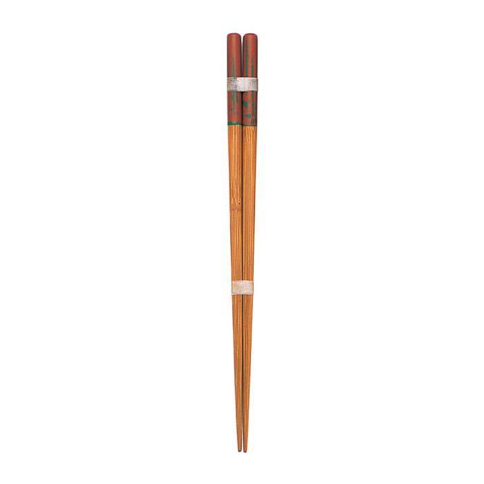 研出し丸箸・茶(大) 【45-057】