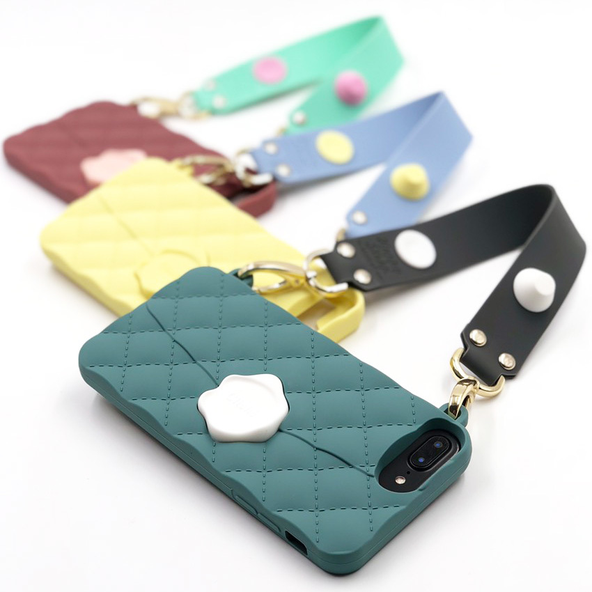 SEAL STAMPED with HAPPY STRAP for iPhone8/7/6s/6 Plusケース