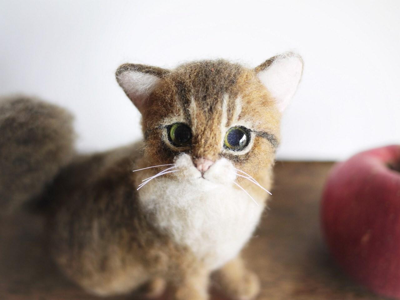 羊毛フェルト 猫 リアルネコ ねこ人形