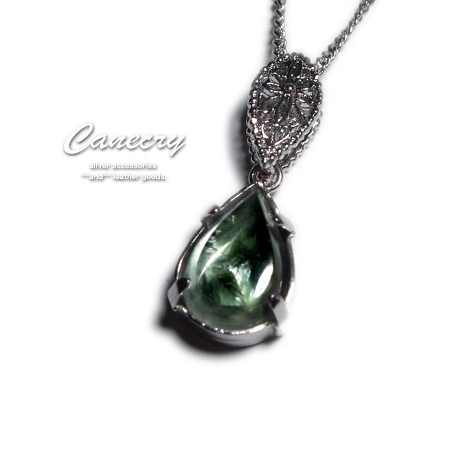 セラフィナイトと水晶のネックレス