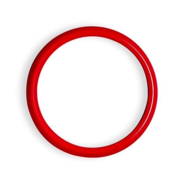 ゴーバッジ グリルバッジホルダー交換用リング(赤) - 画像1