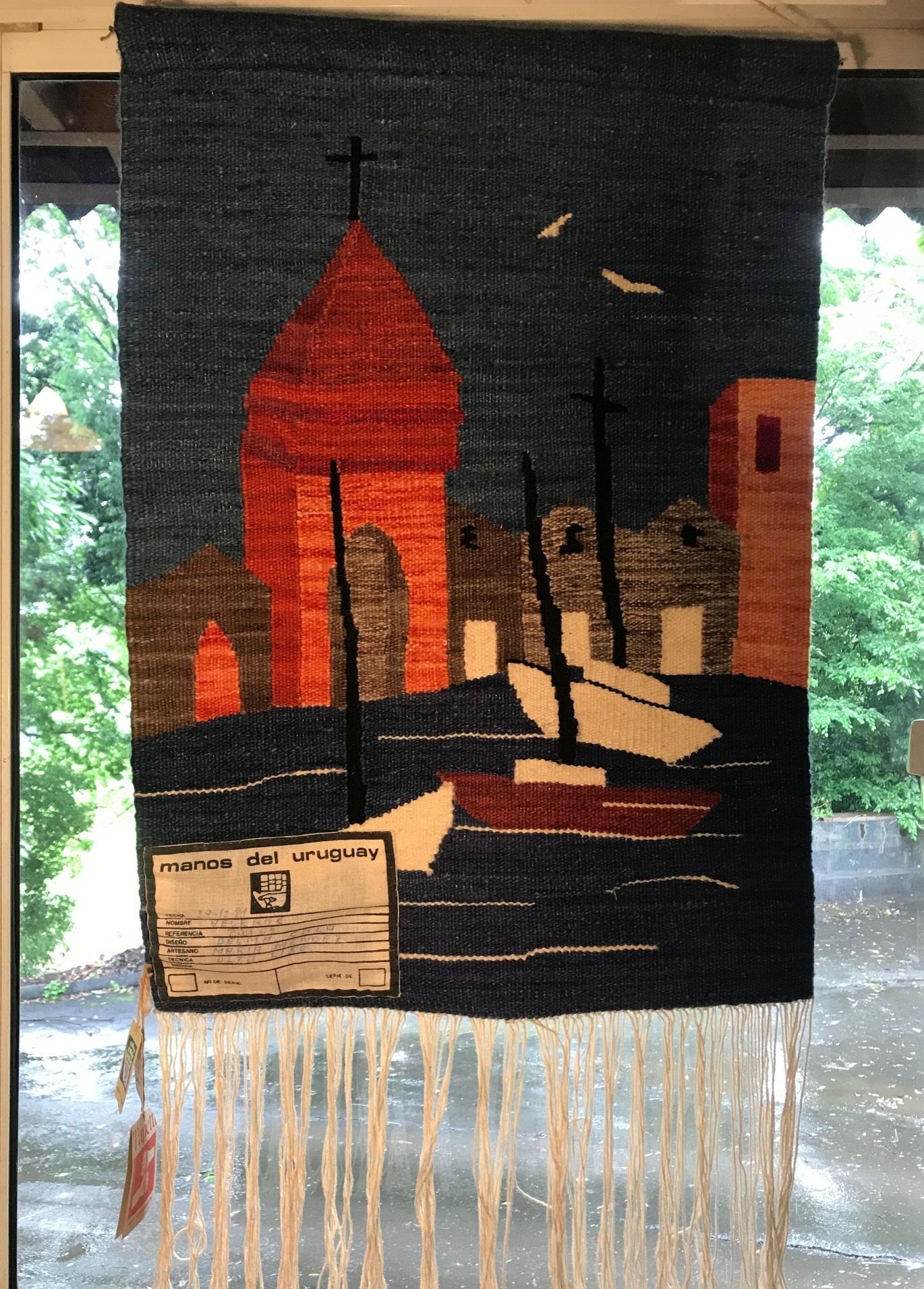 ウルグアイ ビンテージ 手織りタペストリー