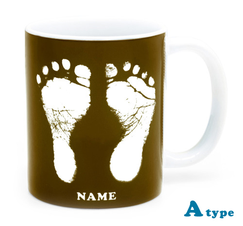 ai mug   A-type (BROWN) QRコード付き