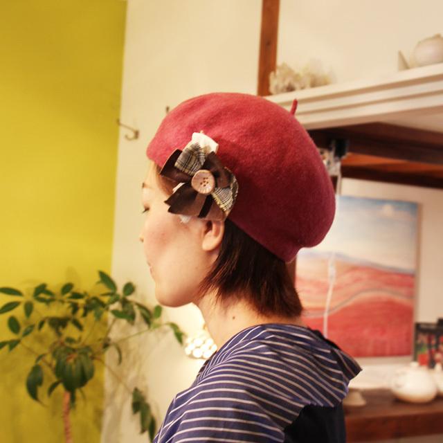麻のブローチ 〈Comet〉Kakishibu