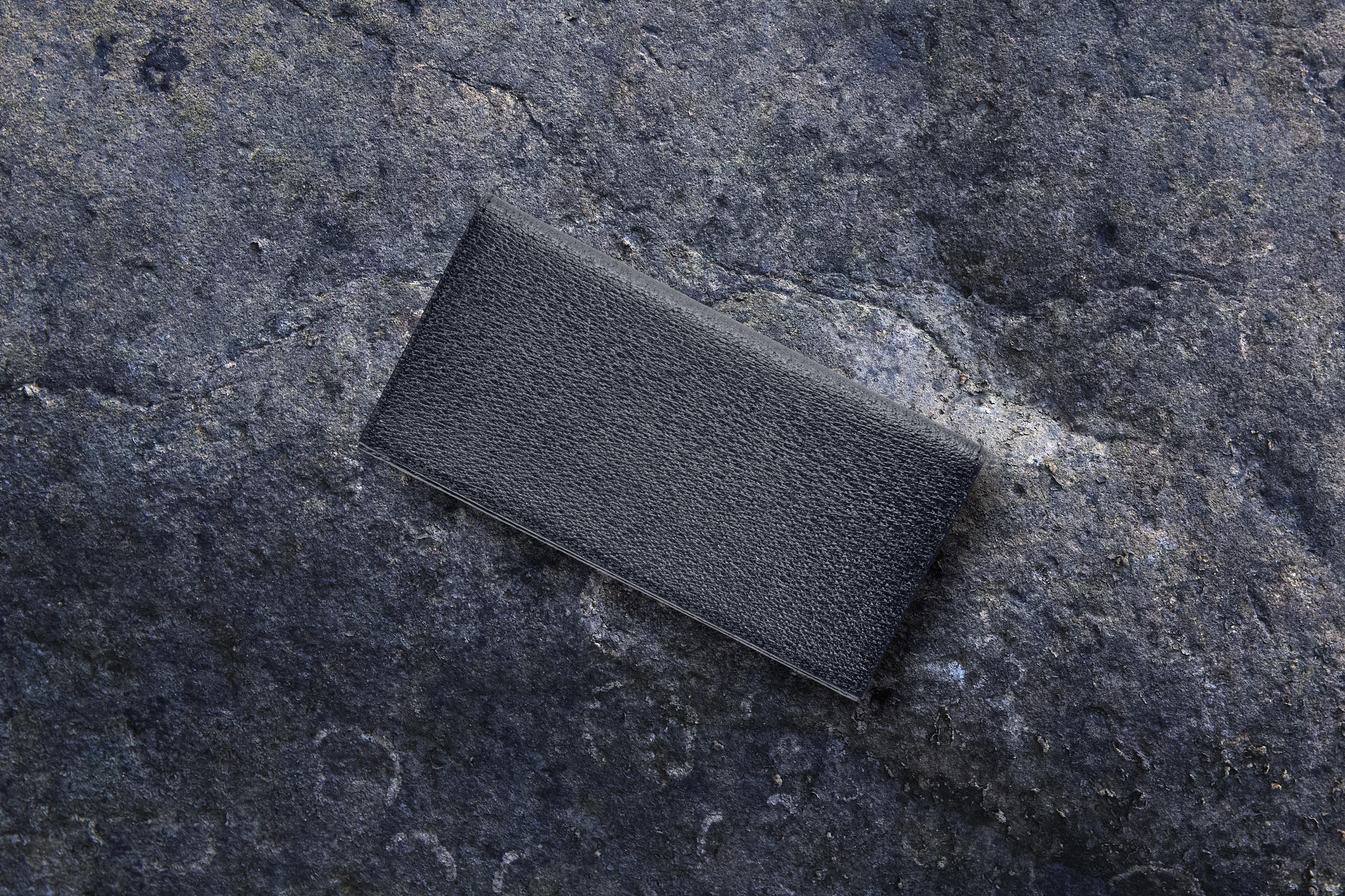【国産イノシシ革】ロングウォレット Black【STY original model】