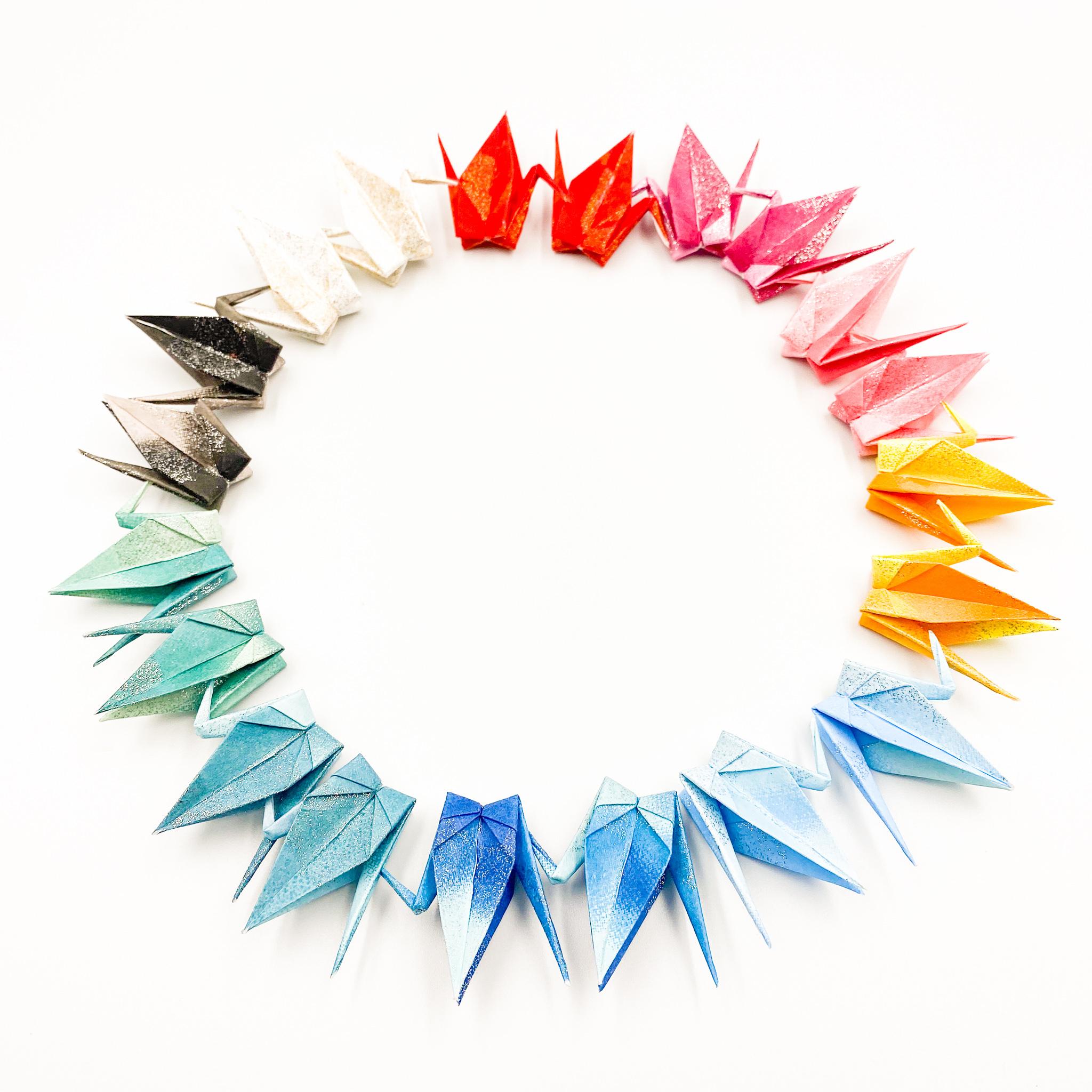 【特別記念価格】「jewel」(神前式、和装婚折り鶴シャワー演出・和風撮影小物)80羽入り