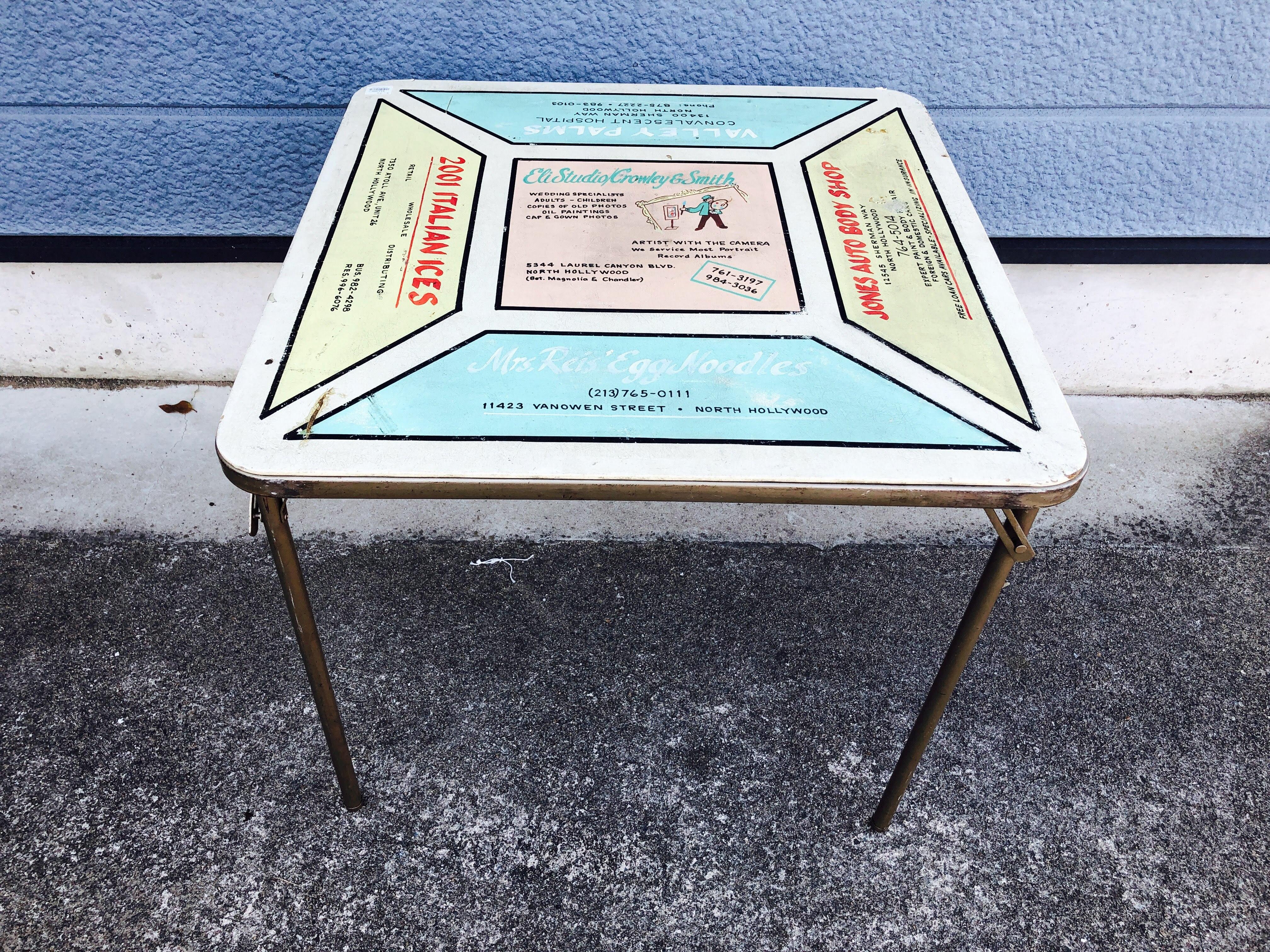 品番3762 スクエア テーブル 折り畳み式 インテリア ディスプレイ ヴィンテージ