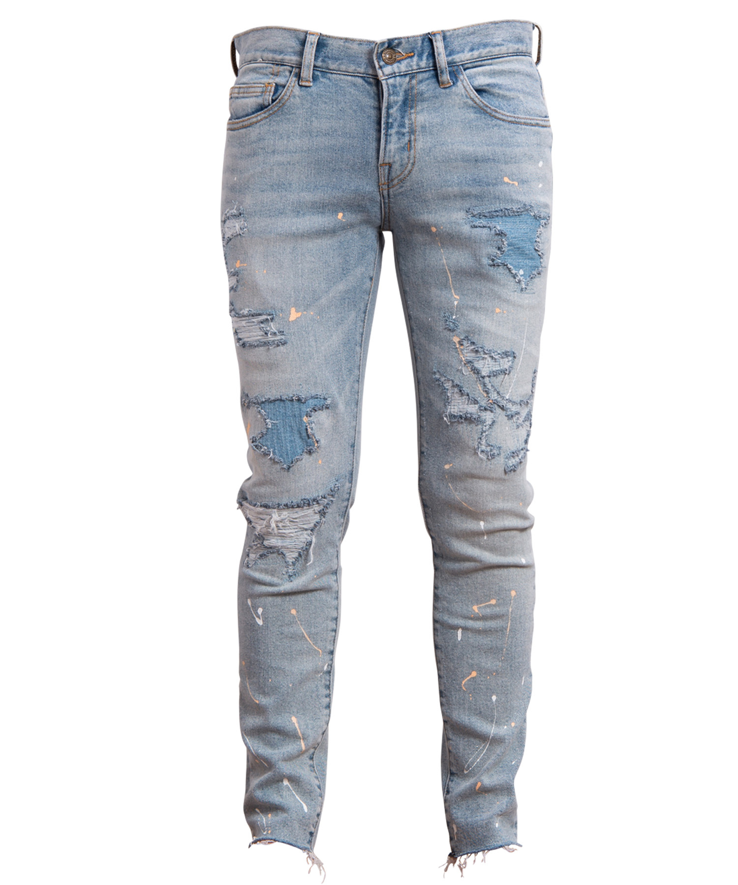 VINTAGE REMAKE PAINT SKINNY DENIM[REP038]