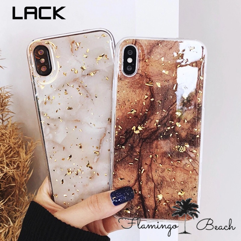 【FlamingoBeach】marble gold iPhoneケース