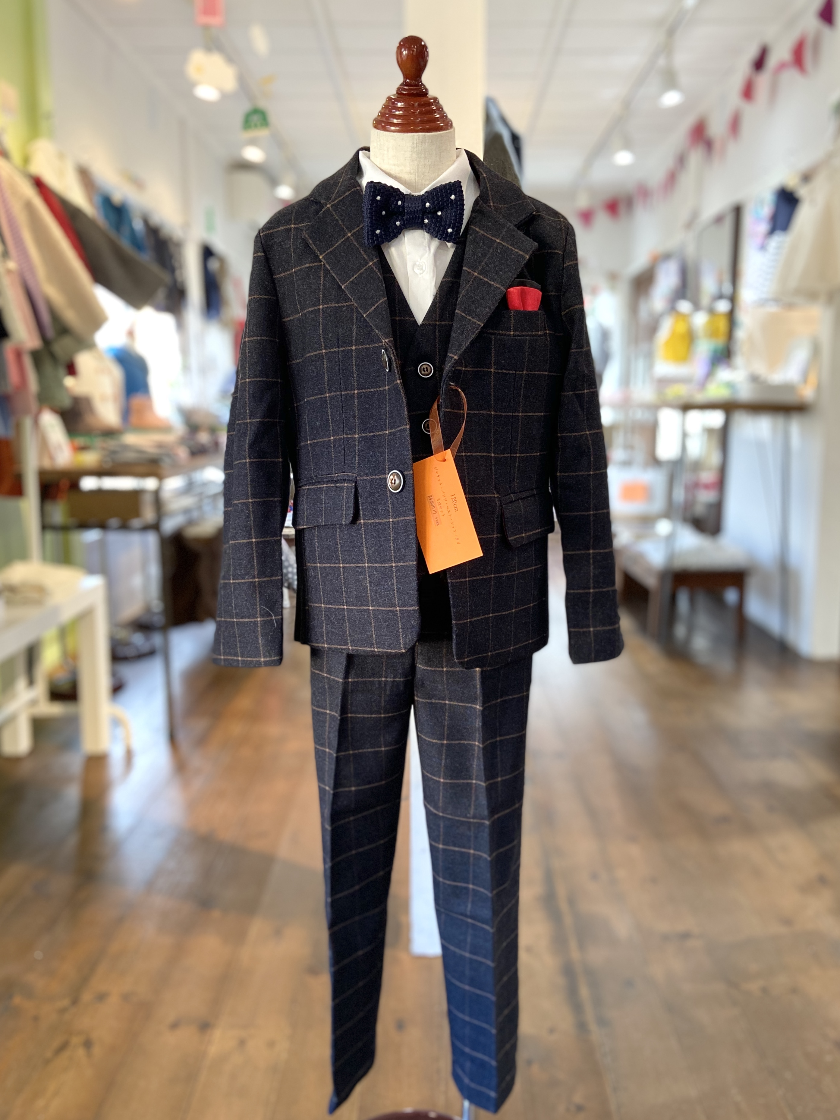 入学式 男の子スーツ 5点セット(120-130㎝)