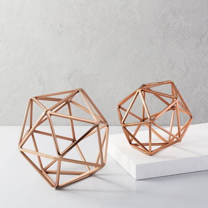 Icosohedron, Gold アイコソヒドロン オブジェ 正20面体 S&Lセット