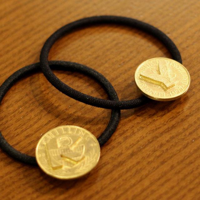 Initial Coin Hair Ring 【Aquvii】