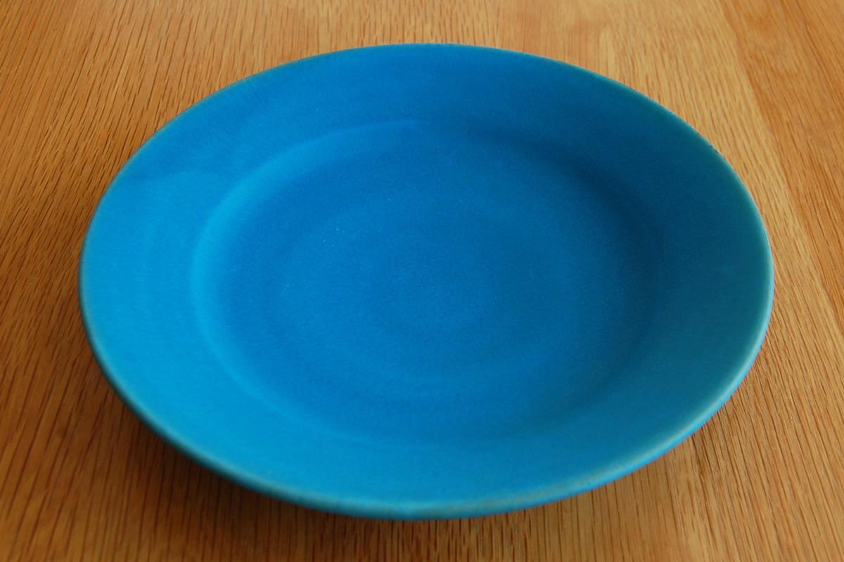 6号皿 トルコ釉