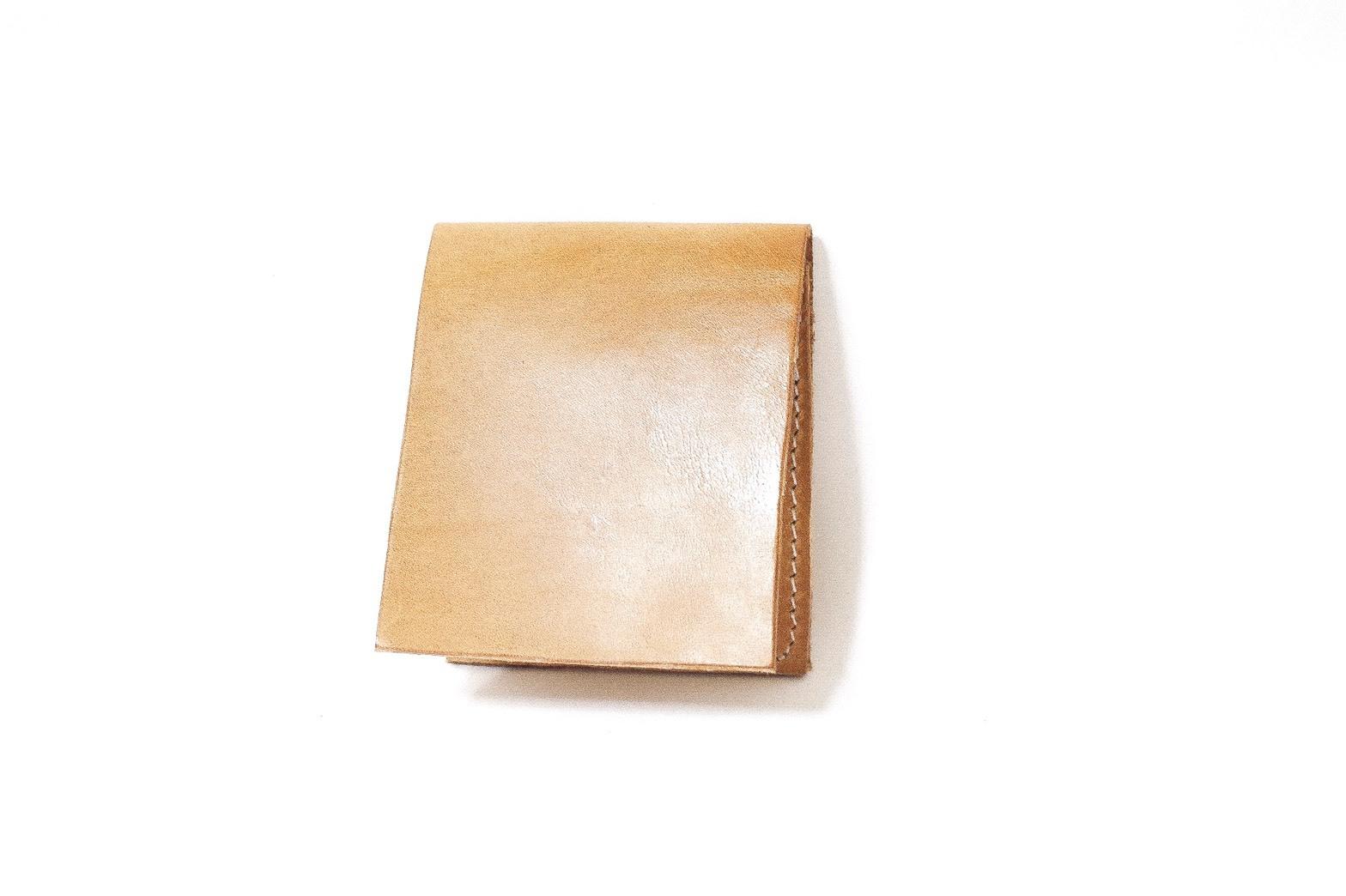 【R様オーダーメイド:サドルレザー】二つ折り財布 ベージュ