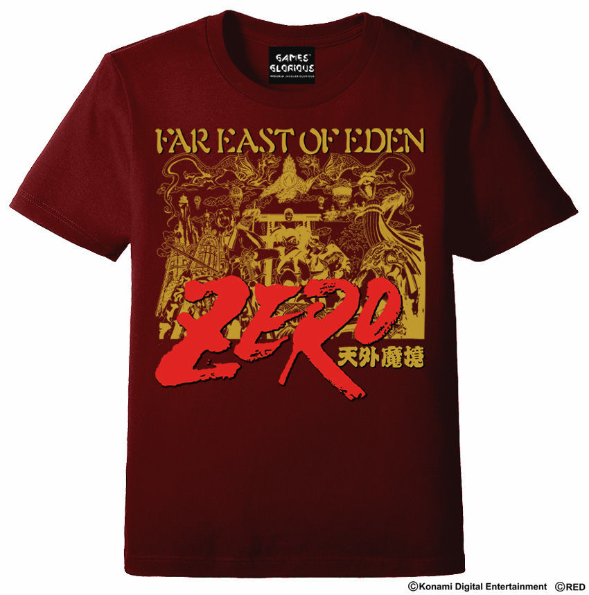 天外魔境ZERO Tシャツ  バーガンディ  / GAMES GLORIOUS