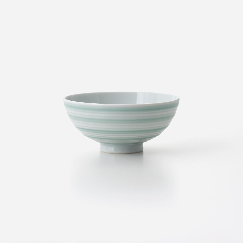 青磁千段 飯碗 (小)