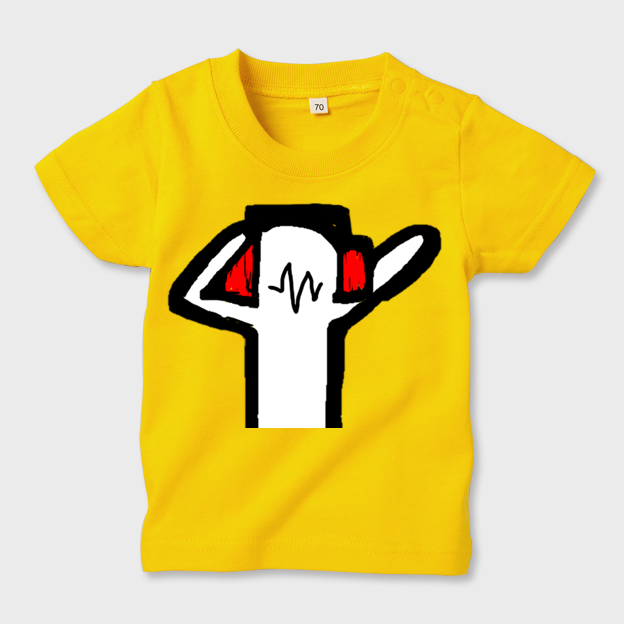 anotherDJ お子様用・イエローTシャツ キッズ80 - 画像1