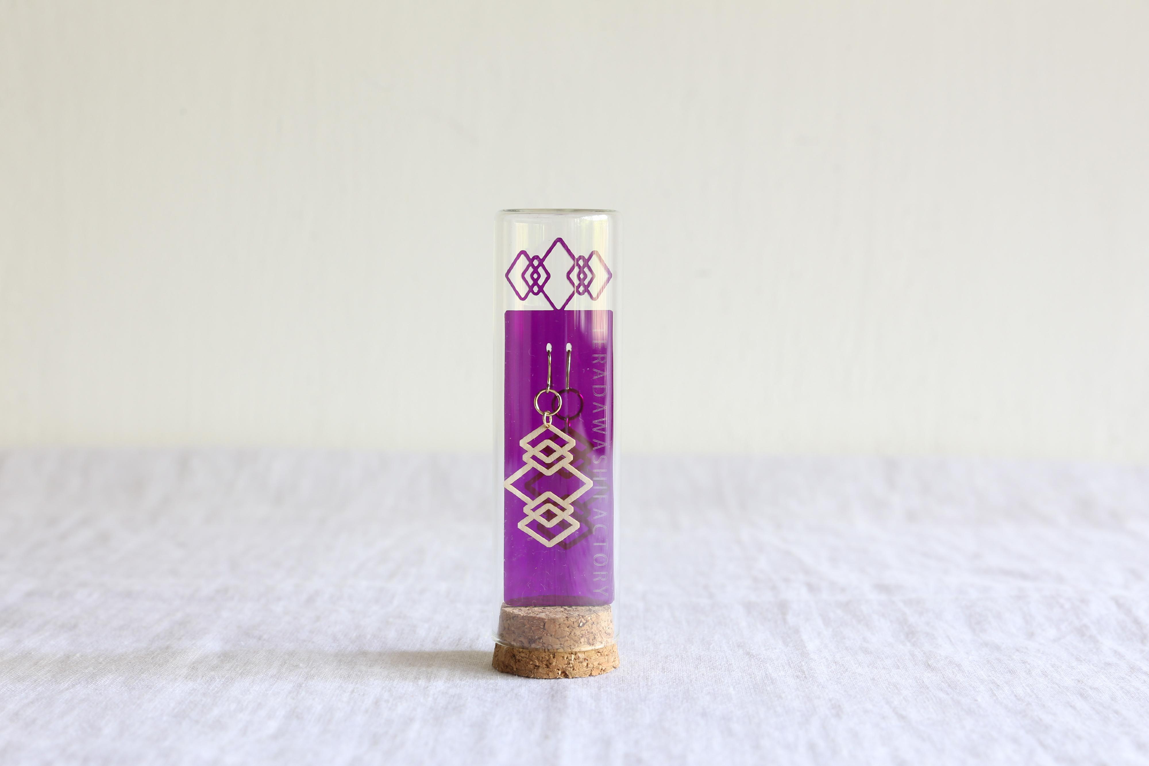テラダ和紙工房|美濃和紙ピアス・イヤリング|紫