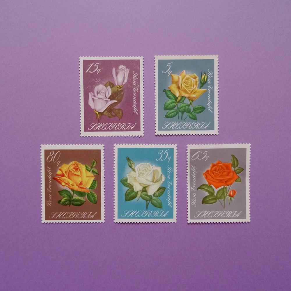 チェコ 薔薇(バラ)の切手セット