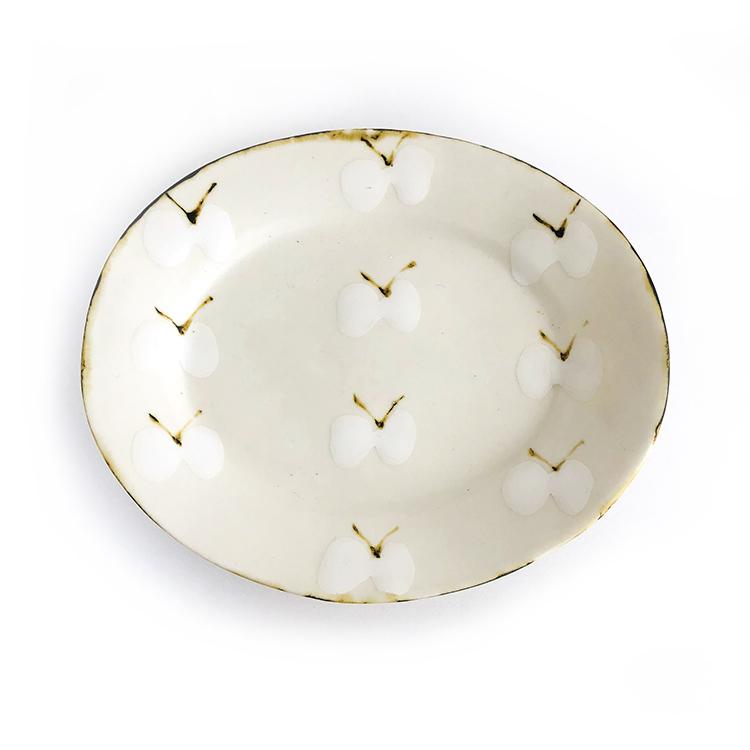 蝶のお皿 石木文