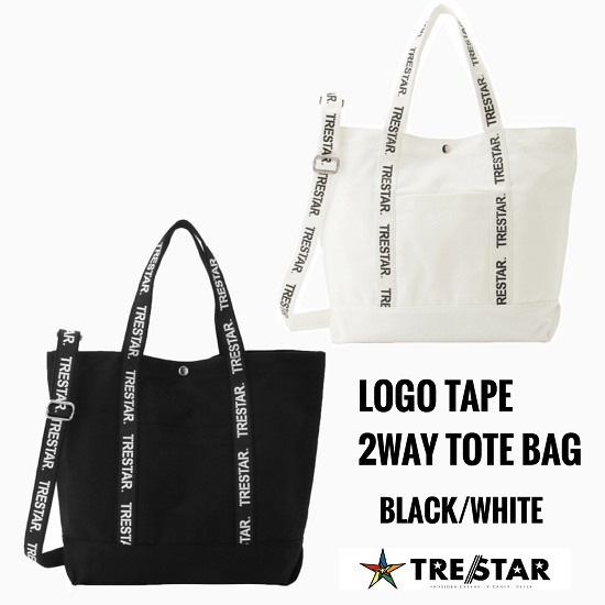 TRE☆STAR『トレスター』2019AW☆ロゴテープ2ウェイトートバッグ