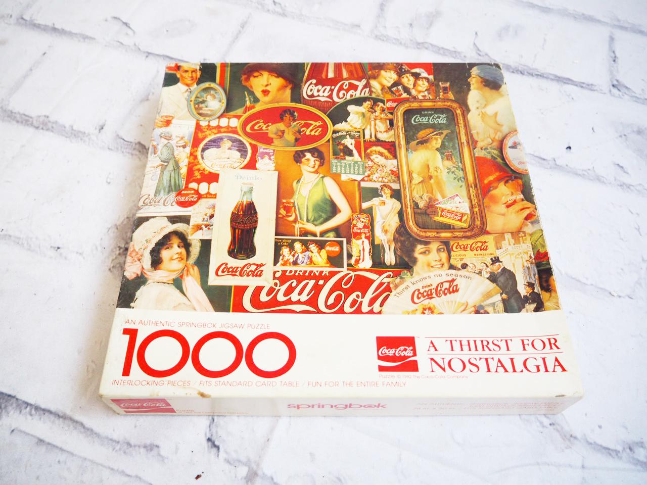 品番1513 Coca Cola コカ・コーラ ノスタルジア スプリングボック 1000ピース パズル アメリカン ヴィンテージ 雑貨