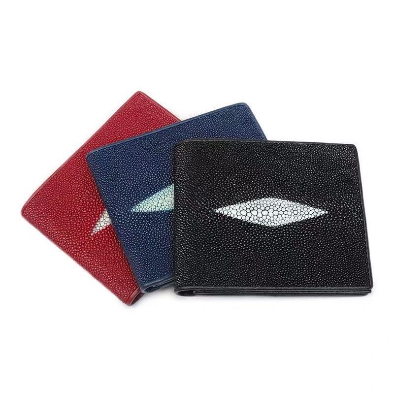 3種類から 選べる 金運アップレディース二つ折り財布 エイ革