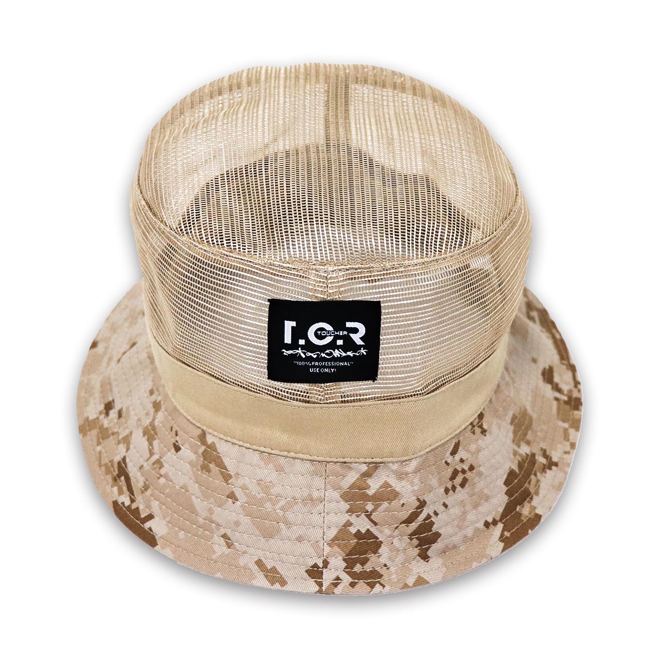 TCR MESH BUCKET HAT - BEIGE/DESERT CAMO