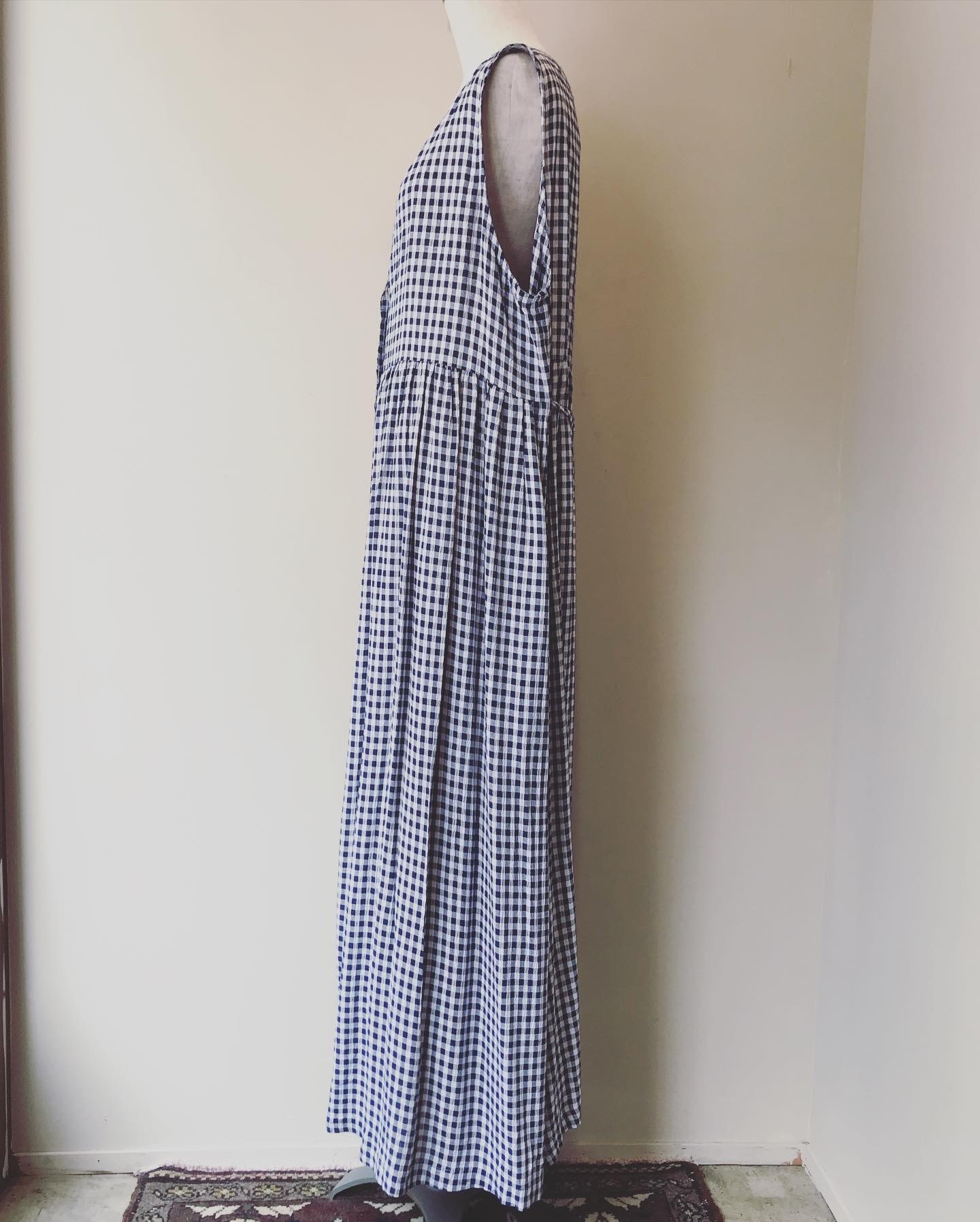 vintage gingham check onepiece