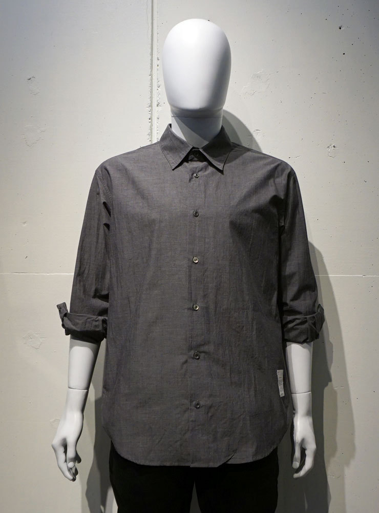 POETRY OF BIRDS Typewriter Cotton shirt チャコール