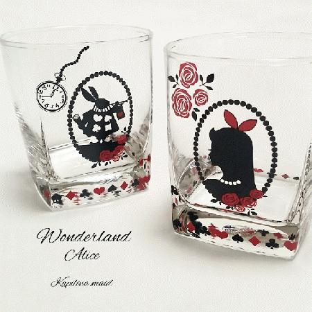 【ガラス用】Wonderland Alice A3サイズ(アリス ポーセリンアート用転写紙)