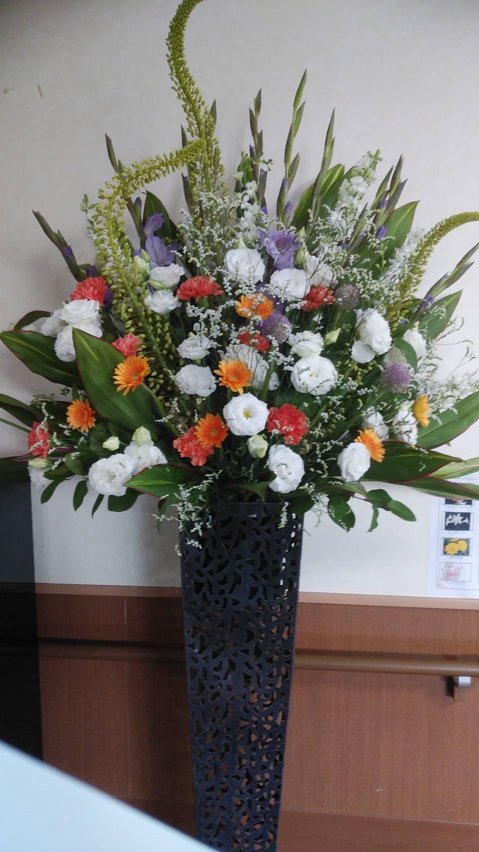 季節の受付花 スタンド