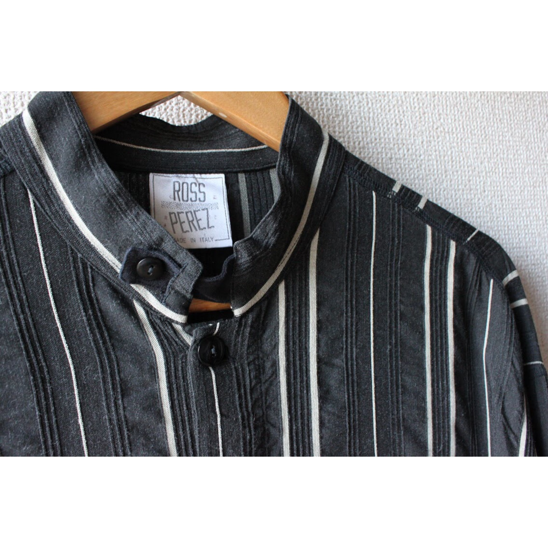 Vintage stand collar shirt