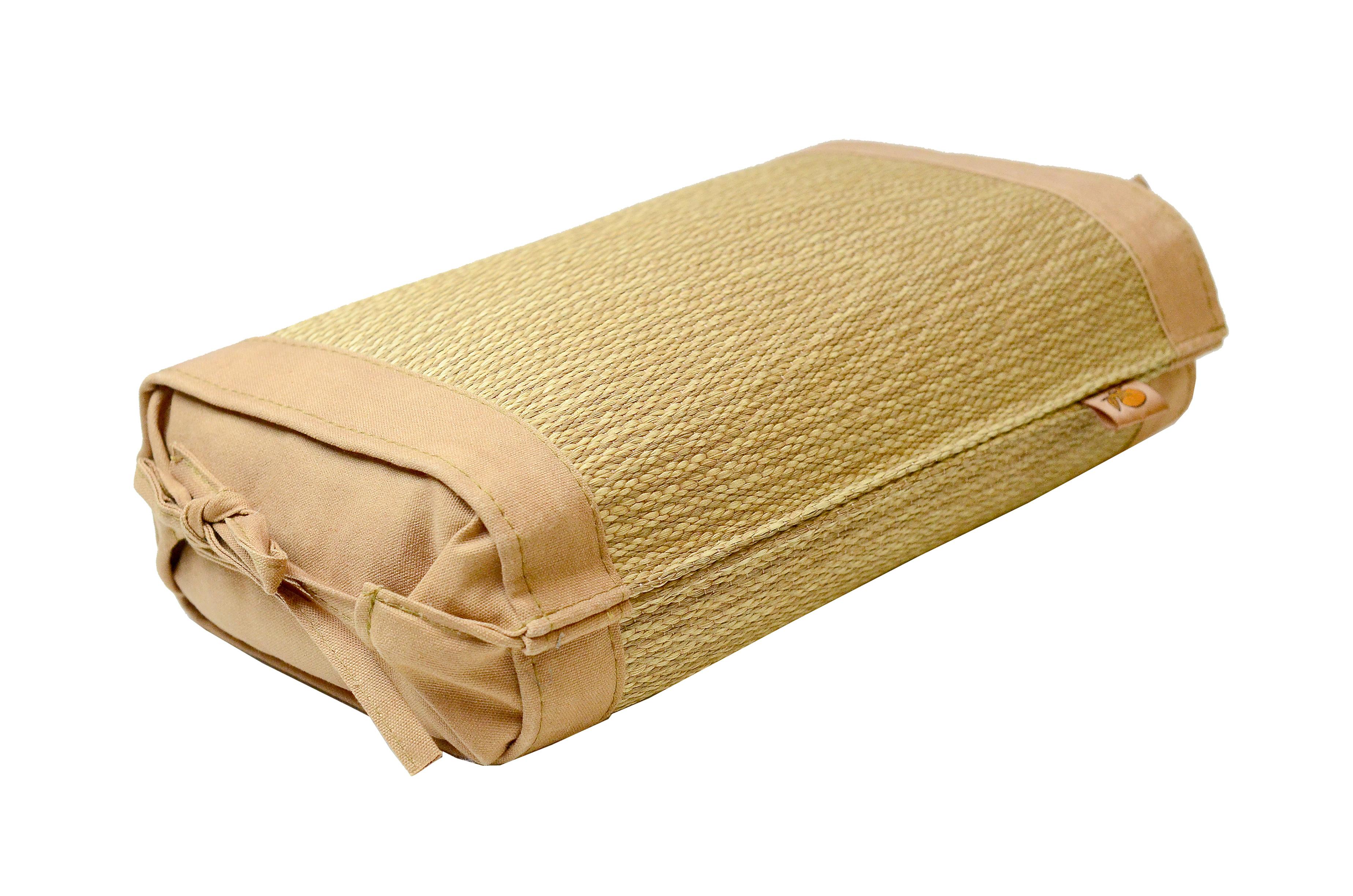 【柿渋染め 小枕】 中芯材:そば殻 柳川ブランド認定品