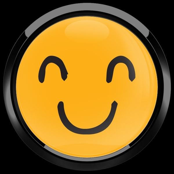 ゴーバッジ(ドーム)(CD1087 - EMOJI SMILE HAND DRAWING 2) - 画像2