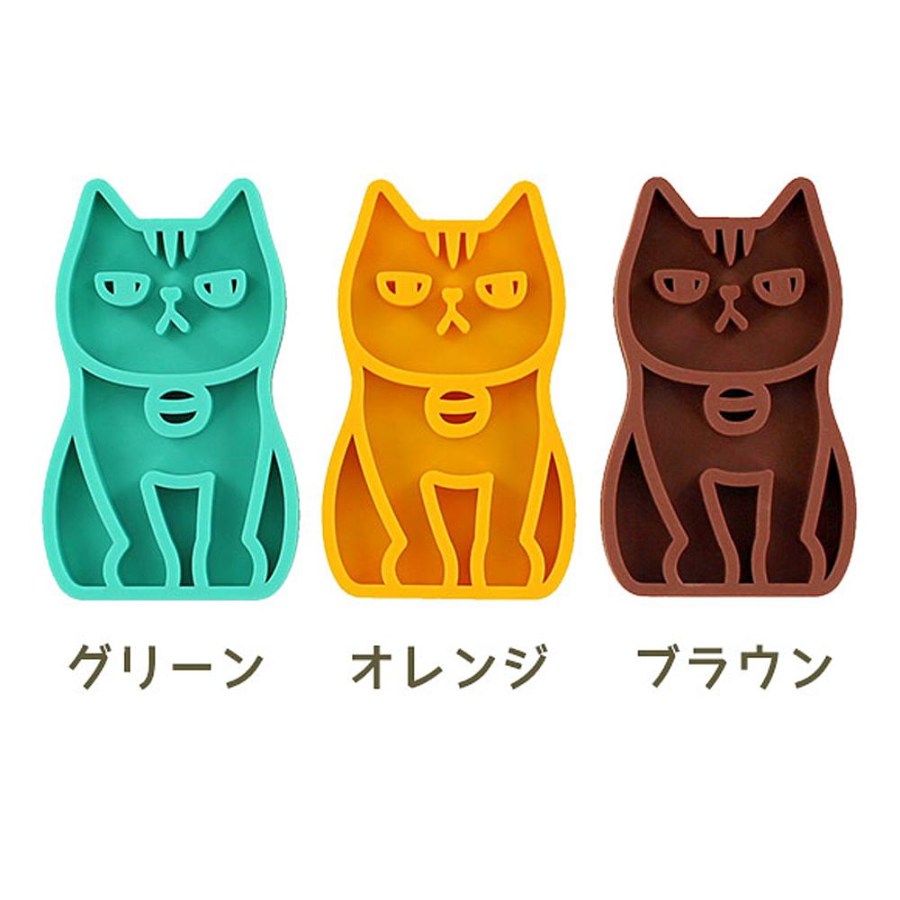 猫ブラシ(マッサージブラシふくふくにゃんこ)全3種類