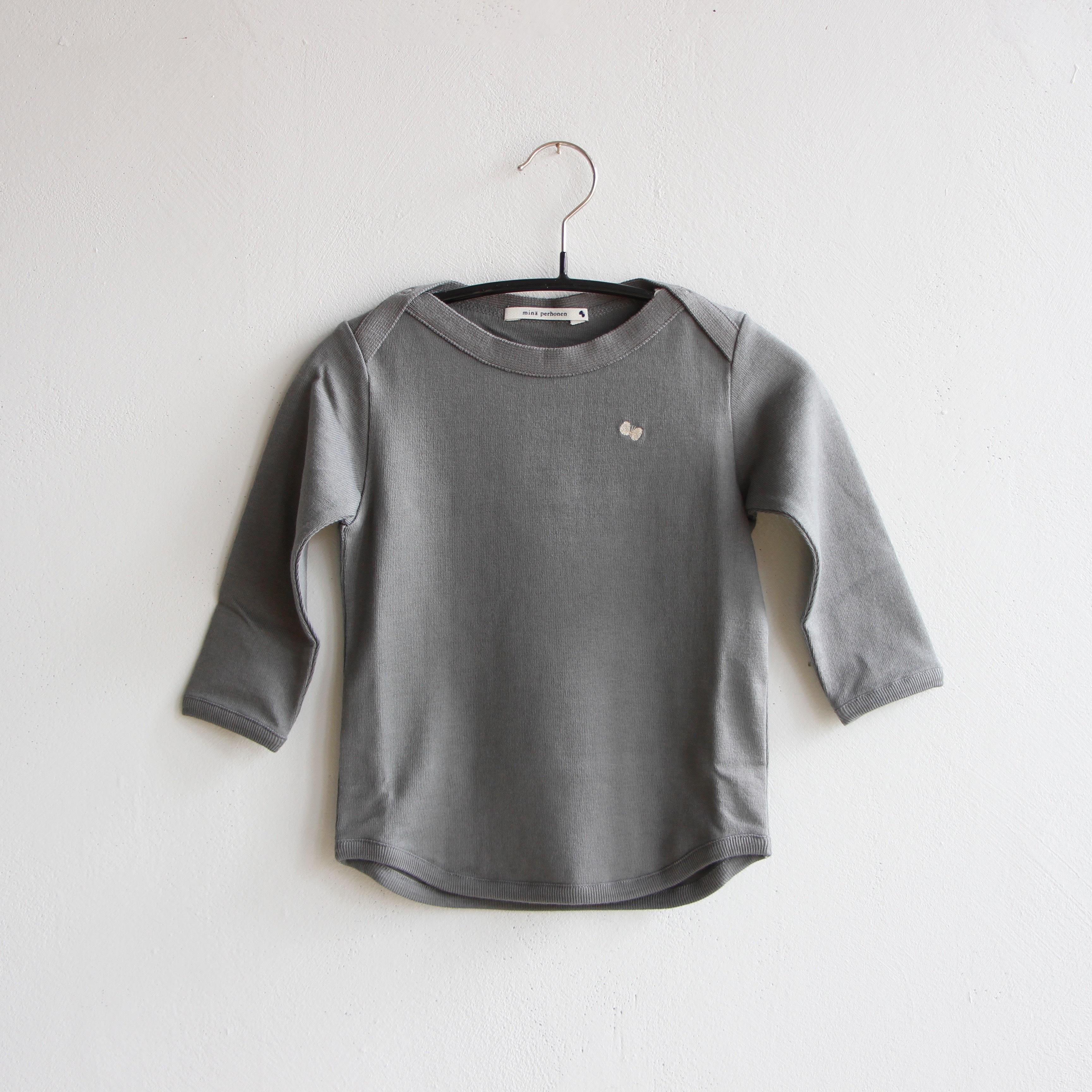 《mina perhonen 2020AW》zutto 長袖カットソー / gray / 80-100cm