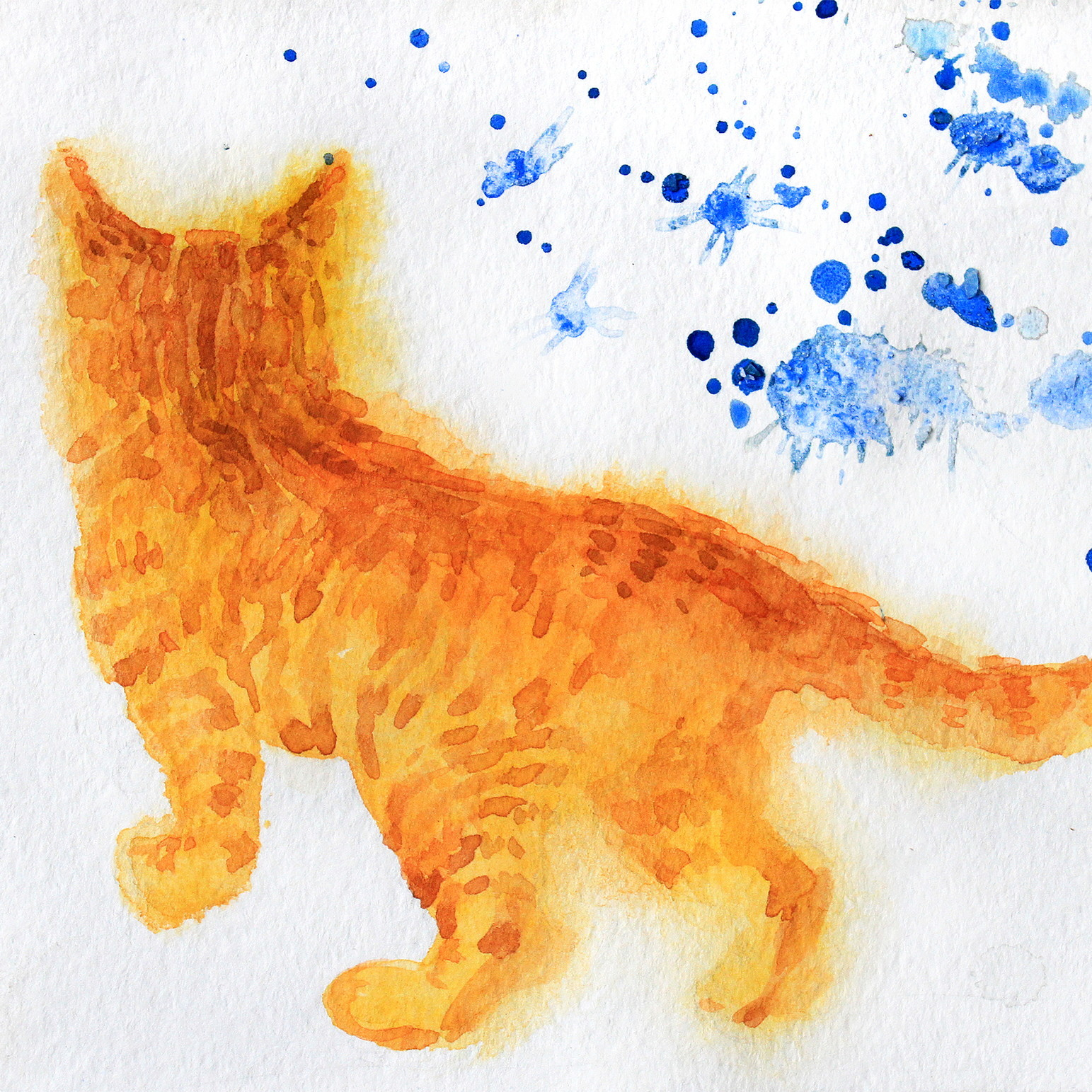 絵画 インテリア アートパネル 雑貨 壁掛け 置物 おしゃれ 油絵 水彩画 鉛筆画 猫 動物 ロココロ 画家 : Uliana ( ウリャーナ ) 作品 : u-1