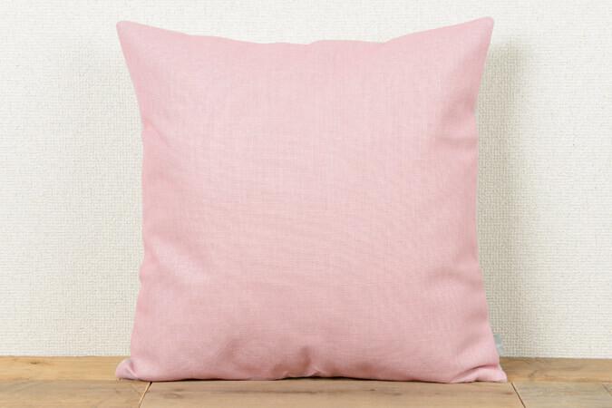 クッションカバー ピンク プレーンカラー