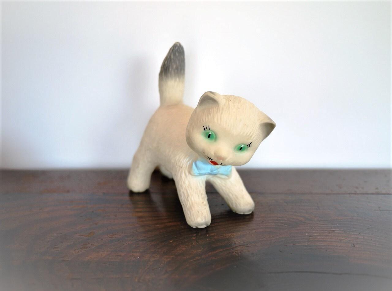 ビンテージ ラバードール 緑の目のねこ プープー人形 スクイーキー
