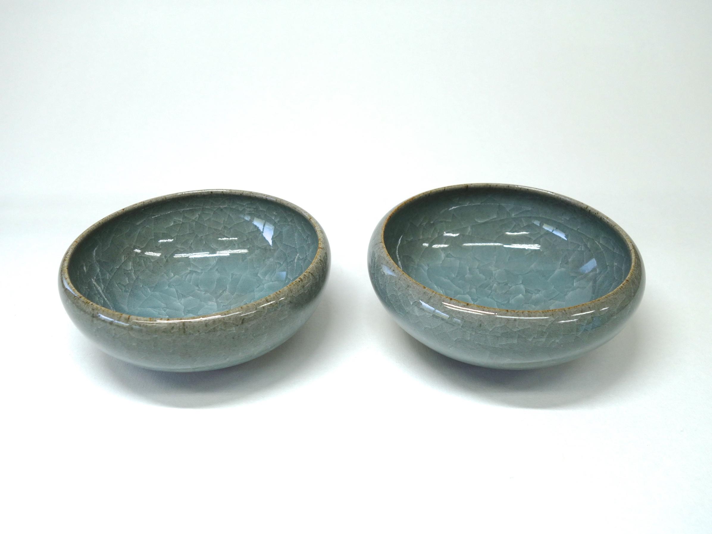 貫入青磁3寸小鉢2個セット