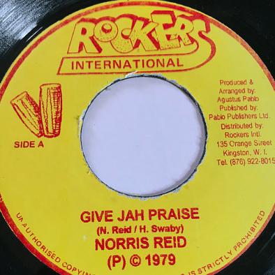 Norris Reid(ノリスリード) - Give Jah The Praise【7'】
